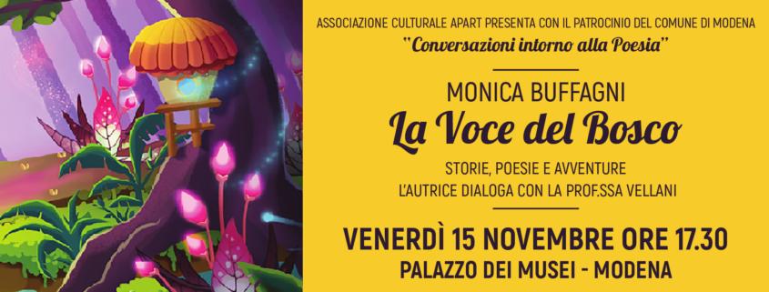 """Conversazioni sulla Poesia: Monica Buffagni e """"La voce del Bosco"""" a Palazzo dei Musei a Modena"""
