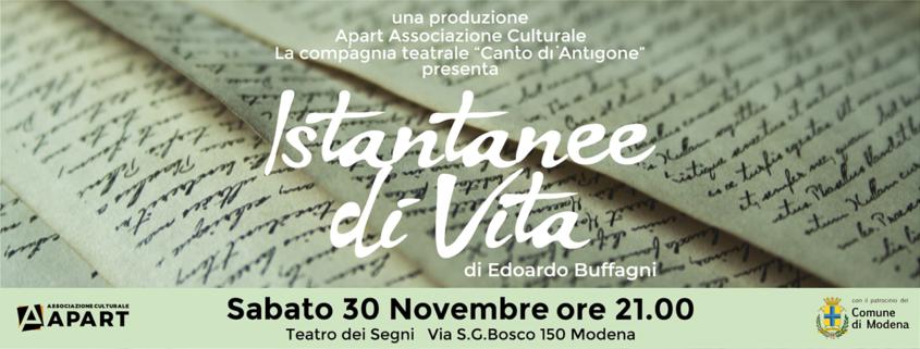 La vita di Leopardi e Pascoli in due atti unici: Istantanee di Vita di Edoardo Buffagni al Teatro dei Segni Modena