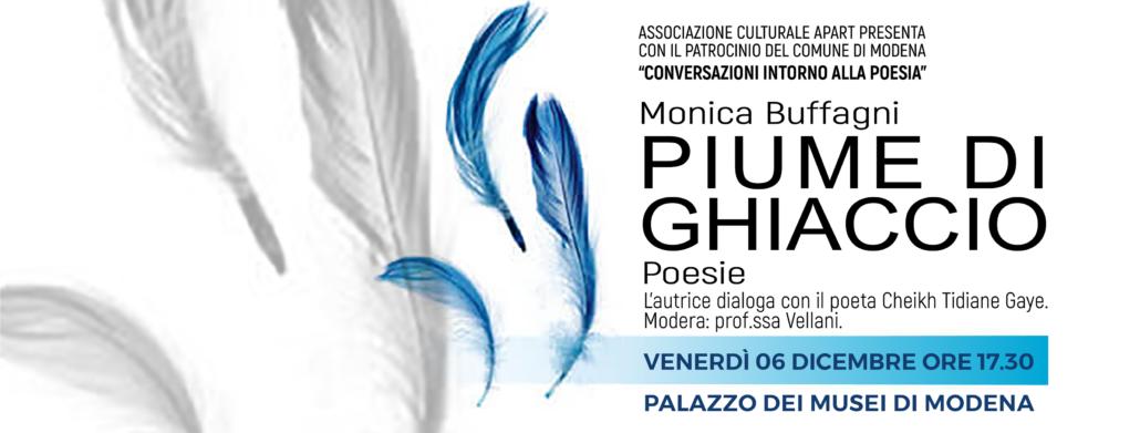 Monica-Buffagni-Piume-di-Ghiaccio-Palazzo-dei-Musei-a-Modena-Conversazioni-intorno-alla-poesia